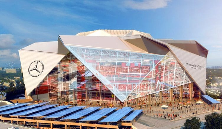 mercedes benz stadium fan expérience enceinte sportive nfl digital