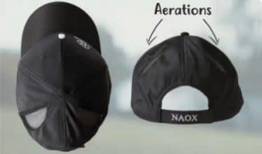 Naox cap casquette aerations